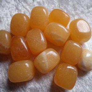 CalciteOrange tumbled stones