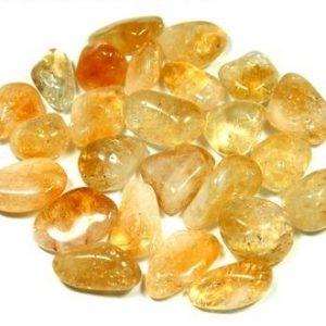 Citrine tumbled stones 2